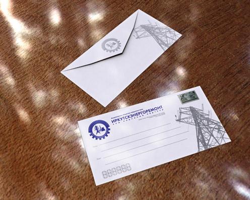 Фирменные конверты «Иркутскэнергоремонт»